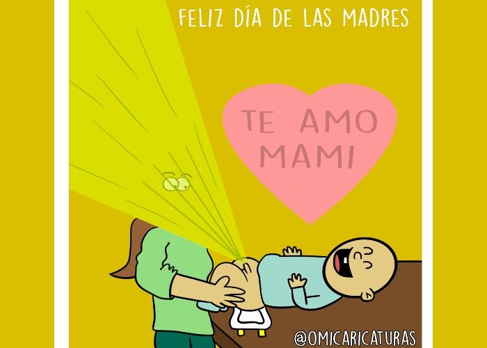 Caricatura: Feliz día de la madres