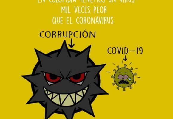 Caricatura: El virus de la corrupción