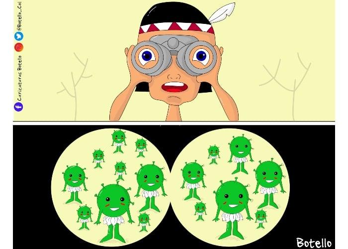 Caricatura: El Amazonas, tierra en el olvido