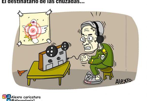 Caricatura: El destinatario de las chuzadas