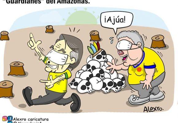 Caricatura: Guardianes del Amazonas