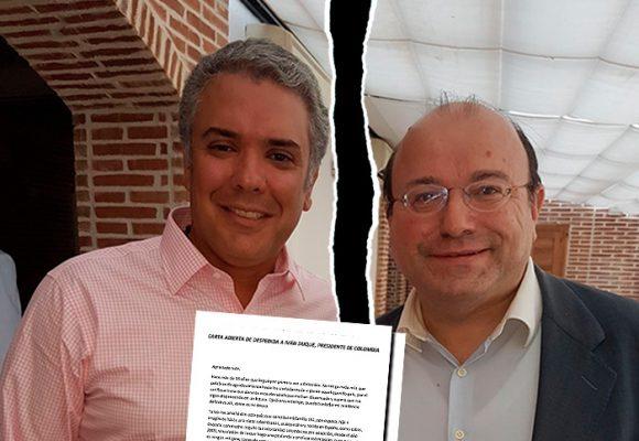 Cachetada del coordinador del Centro Democrático en España a Duque