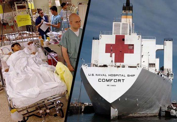 USNS Comfort, el hospital flotante mas grande quedó a la espera