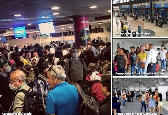 Los 862 viajeros que infectaron a Colombia de coronavirus