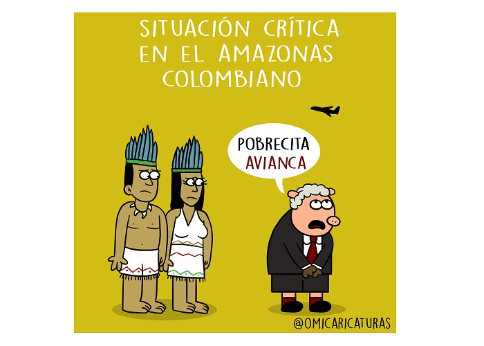 Caricatura: ¡Alerta en el Amazonas!