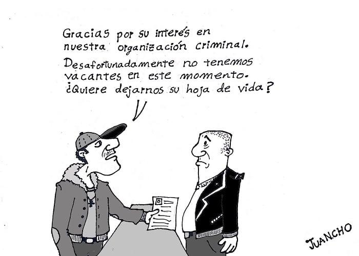 Caricatura: El desempleo en Colombia