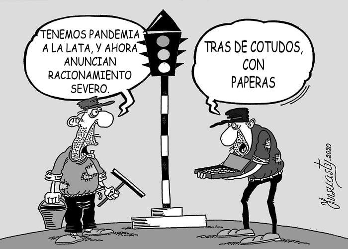 Caricatura: El interminable infortunio colombiano