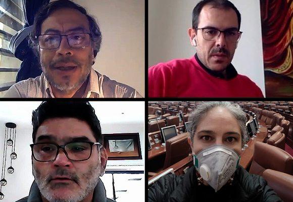 Mechudos, barbados y sin maquillaje: los congresistas en cuarentena