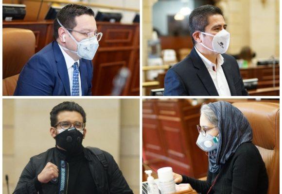 Los congresistas que le dieron la cara al COVID-19