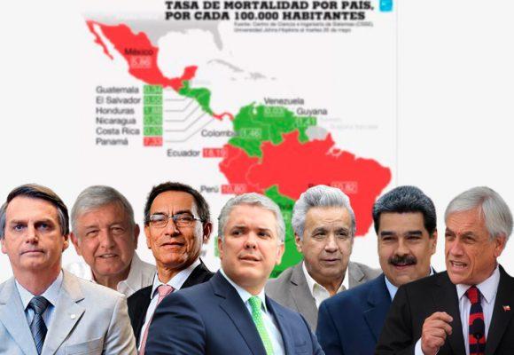 Nueve presidentes latinoamericanos enfrentados a una pandemia que crece