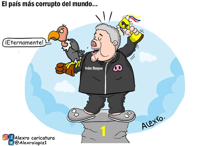 Caricatura: El país más corrupto del mundo