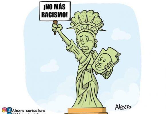 Caricatura: No más racismo