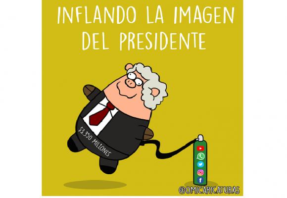 Caricatura: Inflando la imagen del presidente