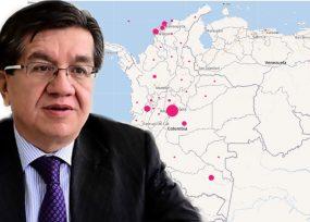 Bogotá y cuatro departamentos concentran la mayoría de contagios