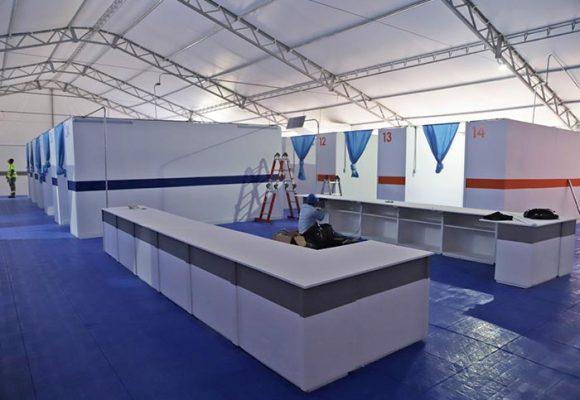 El nuevo hospital de emergencia para recibir pacientes con COVID-19 en el Atlántico