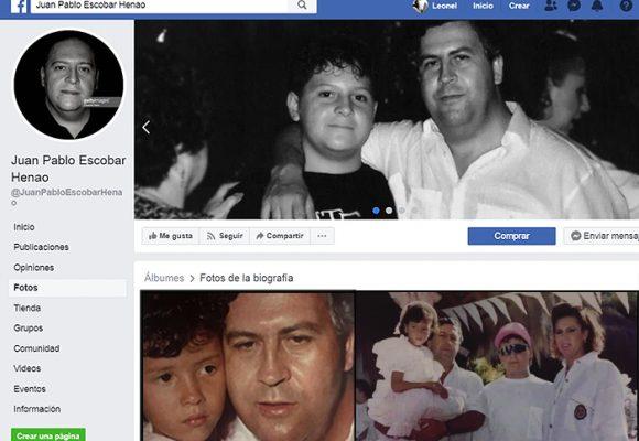La idolatría del hijo de Pablo Escobar por su papá