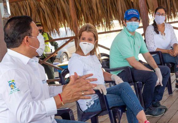 La gobernadora Elsa Noguera da el plan para la reactivación de las playas en el Atlántico