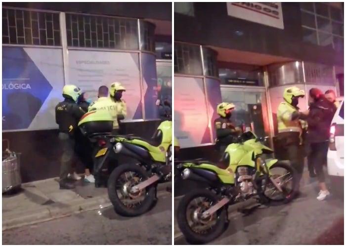 A una vendedora de tintos la policía le da una golpiza por trabajar en cuarentena