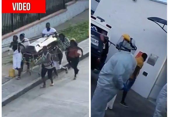 VIDEO: Así se robaron un muerto en Colombia con posible coronavirus