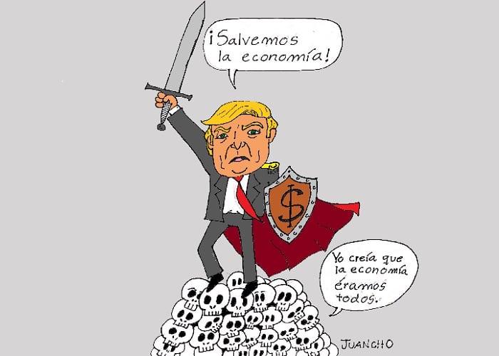 Caricatura: La cruzada de Donald Trump