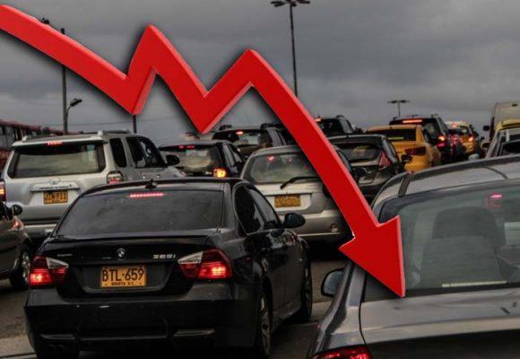 Caída total en venta de vehículos en Colombia en abril