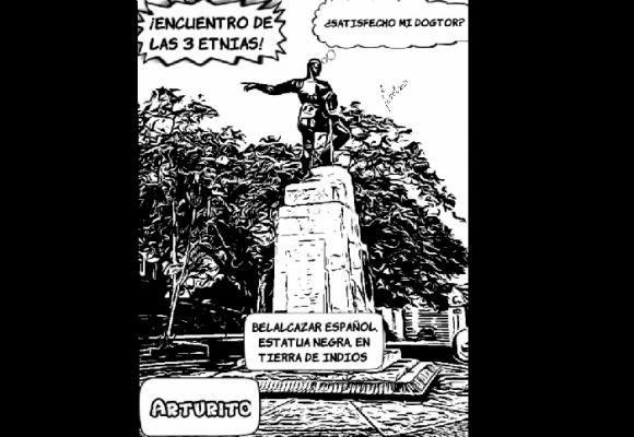 Caricatura: ¿Qué dice Arturito sobre la estatua de las tres etnias?