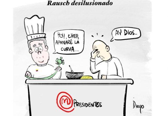 Caricatura: Rausch desilusionado