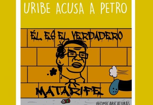 Caricatura: Uribe acusa a Petro
