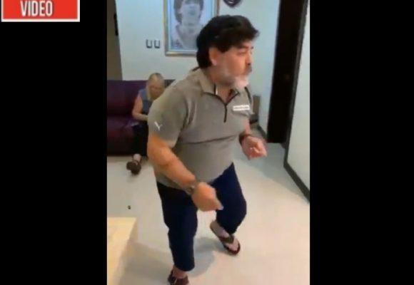 Borracho y perdido: la decadencia total de Maradona