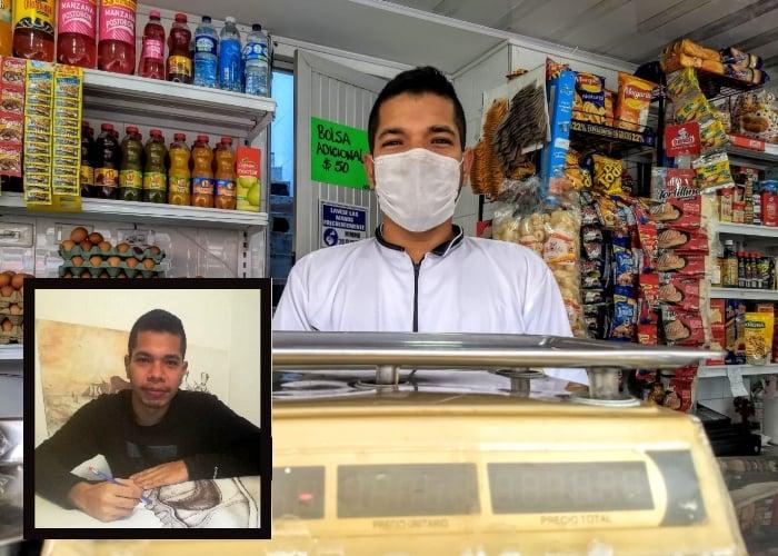 D'Luca, un artista en potencia detrás de una tienda de barrio