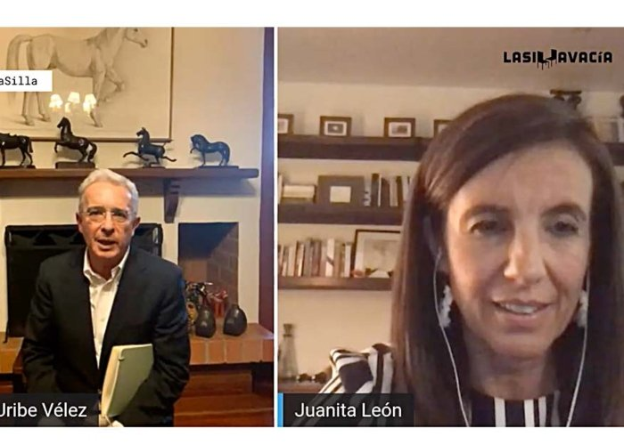 La tensa y extraña entrevista de Juanita León a Uribe