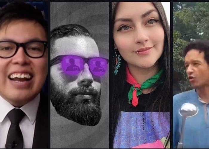 Levy, Wally, Lalis y AquinoTicias: activistas políticos disfrazados de periodistas