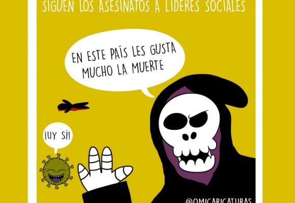 Caricatura: Siguen los asesinatos a líderes sociales