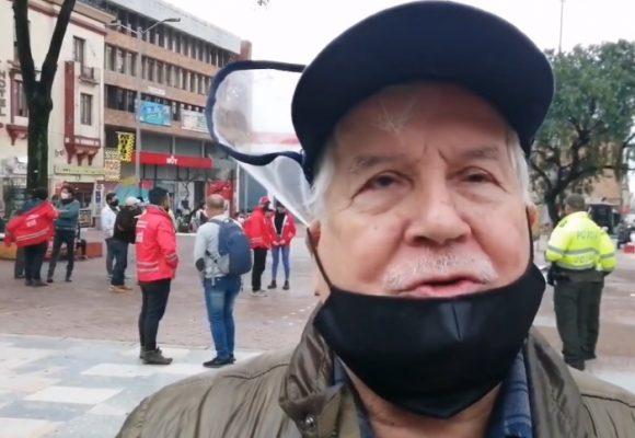 Los mayores de 70 le salieron a protestar a Duque
