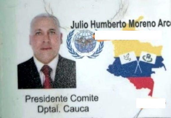 A plena luz del día, asesinan a otro líder social en el Cauca