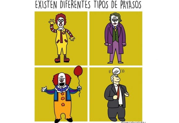 Caricatura: Diferentes tipos de payasos
