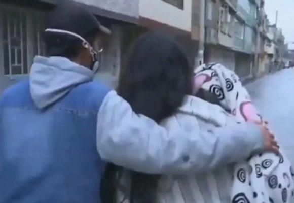 VIDEO: Embarazada y con un bebe en brazos, familia fue desalojada en Engativa