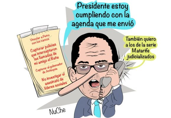 Caricatura: Las cortinas de humo del fiscal Barbosa
