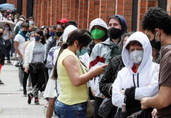Bogota y 5 departamentos ponen el 83% de los contagios activos