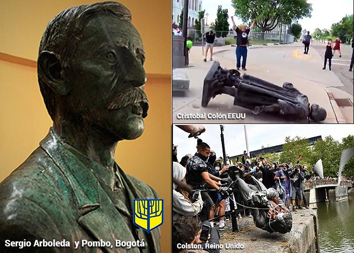 La caída de las estatuas de los esclavistas llega a Colombia