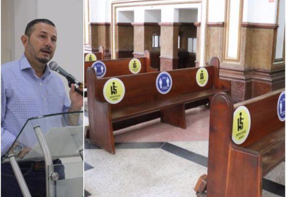 Alcalde y párroco de Espinal abren primera iglesia en Colombia
