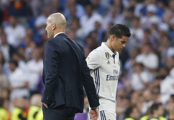 Ahora si no jugará un minuto: la ira de Zidane con James