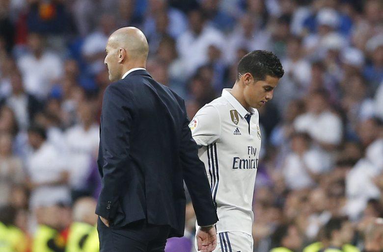 Ahora si no jugará un minuto: la ira de Zidane con James - Las2orillas