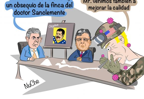 Caricatura: La asesoría gringa al Gobierno Duque