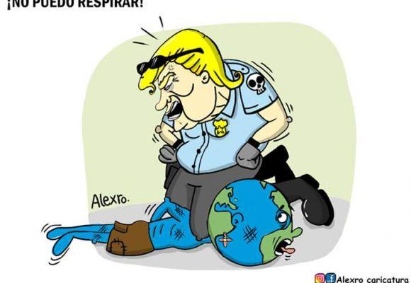 Caricatura: ¡No puedo respirar!