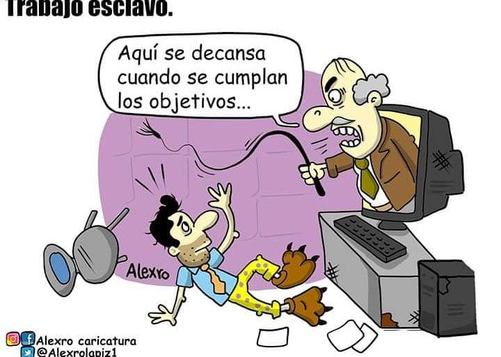 Caricatura: Trabajo esclavo