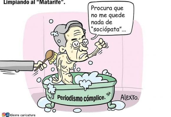 Caricatura: Limpiando al