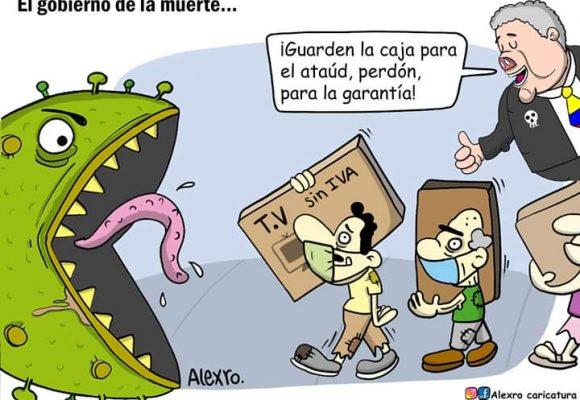 Caricatura: El gobierno de la muerte