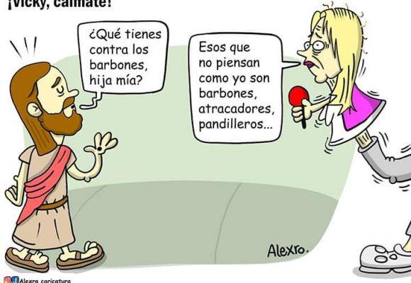 Caricatura: ¡Vicky, cálmate!
