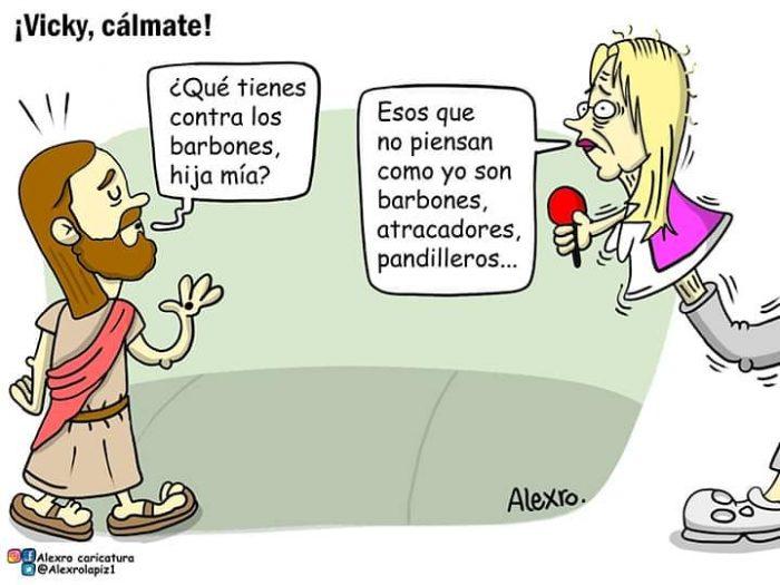 La Caricatura Davila que le quita el sueño: ¡Vicky, cálmate! 1